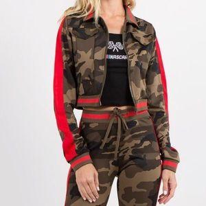 Camo Style Track Jacket